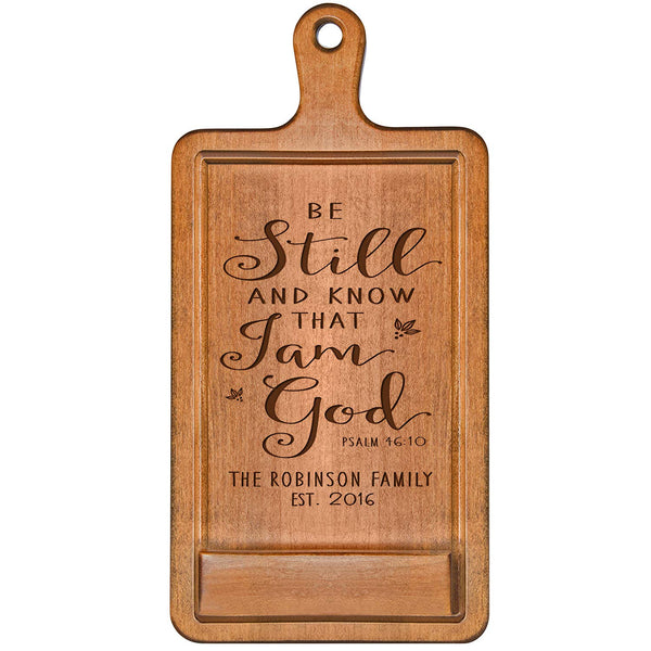 Personalized Cherry iPad Cook Book Holder - Be Still And Know