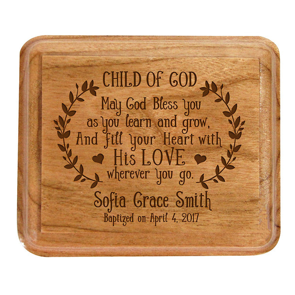 Personalized 1st Holy Communion Keepsake Box CHILD OF GOD Custom Sacraments Baptism gifts By LifeSong Milestones (Child Of God)