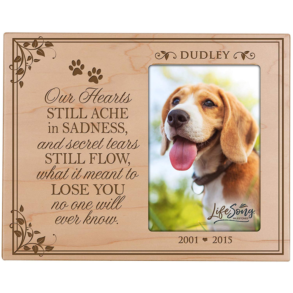 LifeSong Milestones Personalized Pet Memorial Sympathy Picture Frame O