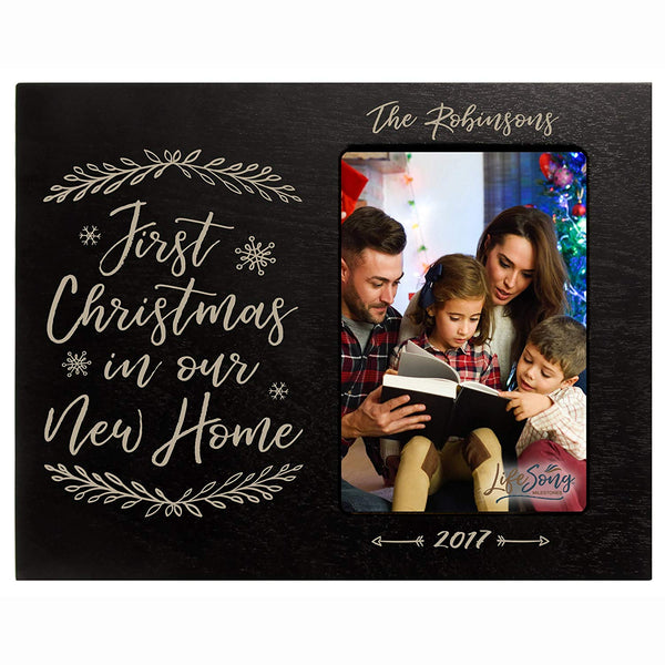 Personalized First Christmas 4 x 6 Photo Picture Frame