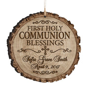 Personalized Wooden Ornament Gifts - Baptism And Christening First Holy Communion Blessings