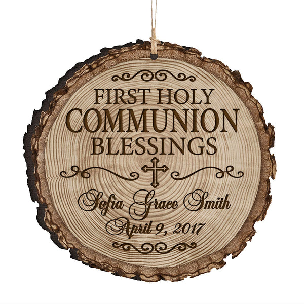 Personalized Baptism 1st Holy Communion Christening Gifts Custom Engraved Ornament Decoration Blessings on your Baptism By LifeSong Milestones
