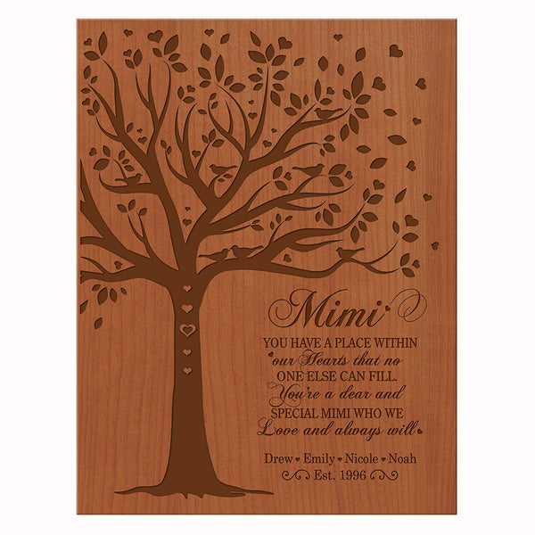 LifeSong Milestones Personalized Mother's day Gifts Custom Wall Plaque for Mim mom Nana Grandmother Grandma,Thank You Gift from Daughter