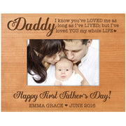 Personalized First Father's Day Photo Frame Gift