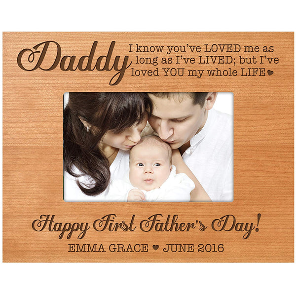 Personalized Gifts for dad Happy First Father's Day Custom picture frame