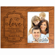 Personalized Valentine's Day Photo Frame - Love Is Patient Cherry