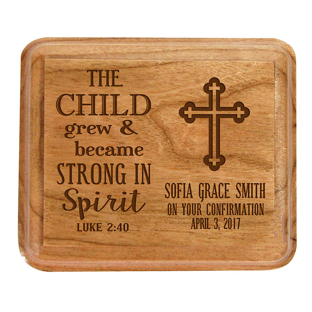 Personalized Baptism Jewelry Box the child grew