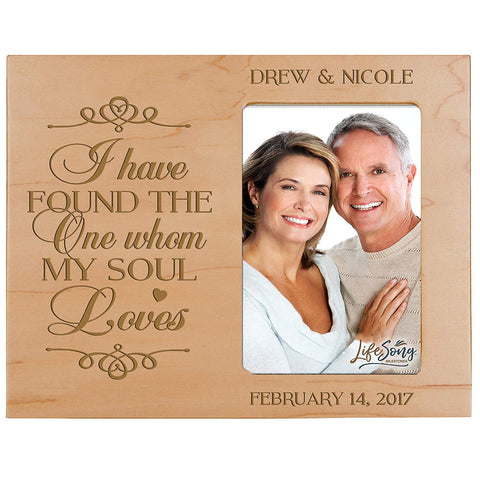 Personalized Valentine's Day Photo Frame - I Have Found The One Maple