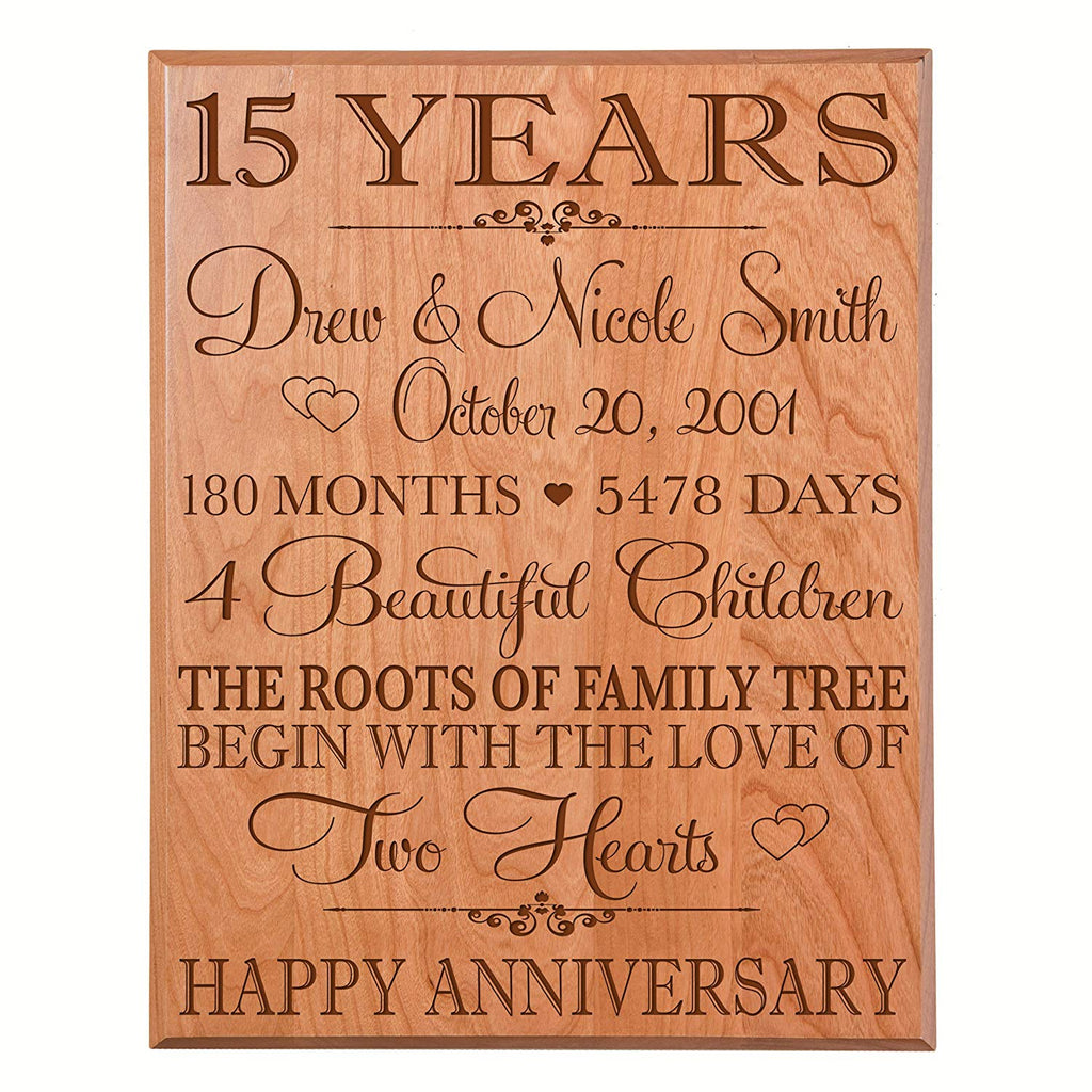 Personalized 15 Year Anniversary Gift For Couple15th Wedding Gift