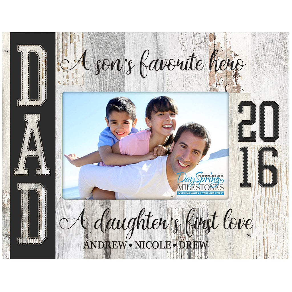 Personalized Father Birthday Photo Frame Gift - Hero and