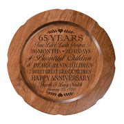 Personalized 65th Wedding Anniversary Plate - Special Dates