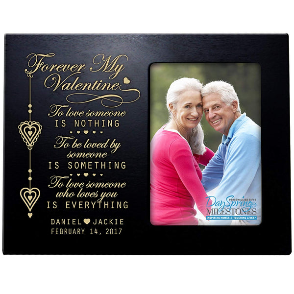 Personalized Valentine's Day Photo Frame Gift Custom Engraved ideas for couple Forever my valentine Frame holds 4 x 6 picture by LifeSong Milestones