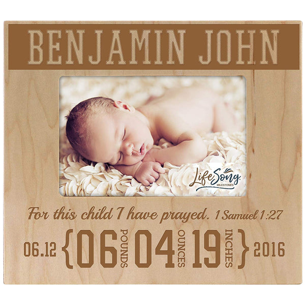 Personalized New Baby Birth Announcement Picture Frame -For This Child