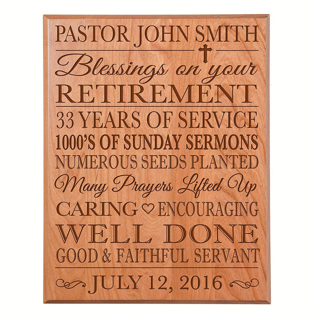 ... Personalized Retirement Gift Plaque For Men And Women - Religious ...