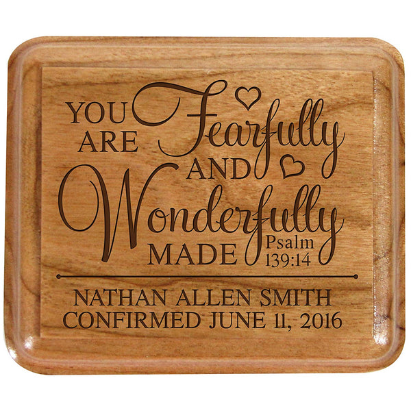Personalized Baptism Keepsake Box You Are Fearfully and Wonderfully made Psalm 139:14 1st Holy Communion Gift Custom Sacraments Gift You are fearfully and Wonderfully made. By LifeSong Milestones