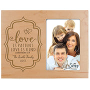 Personalized Valentine's Day Photo Frame - Love Is Patient Maple