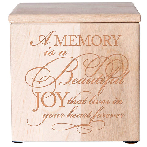 Cremation Urns for Human ashes -SMALL Funeral Urn Keepsake box - Memorial Gift for home or Niche Columbarium A Memory is a beautiful - Holds SMALL portion of ashes