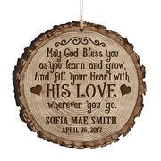 Personalized Wooden Ornament Gifts - Baptism And Christening May God Bless You