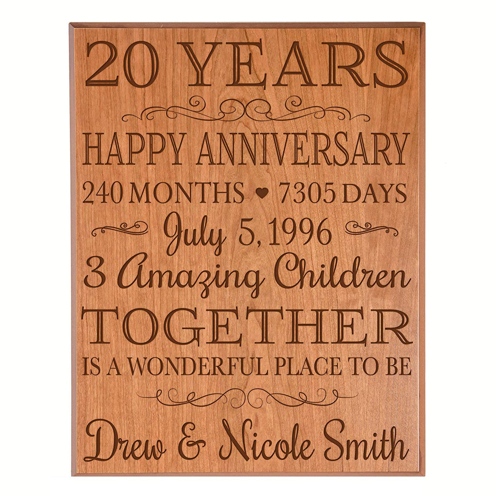 Personalized 20th Anniversary Gifts Ideas For Couple 20th Happy