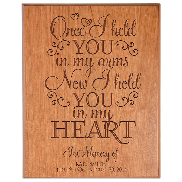 Personalized Wedding Memorial Wall Plaque - In My Arms