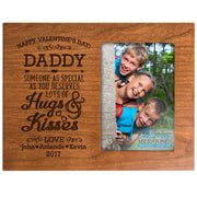 daddy hugs & kisses valentine's day photo frame picture cherry