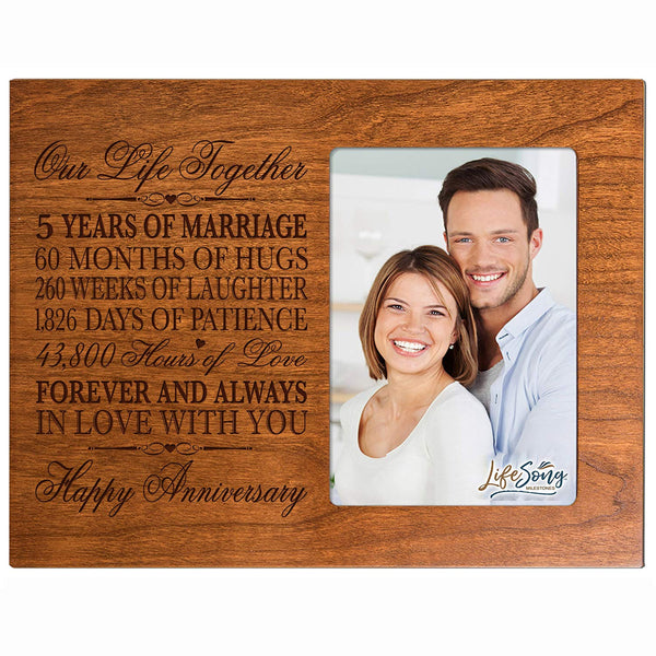 Five Year Anniversary Photo Frame