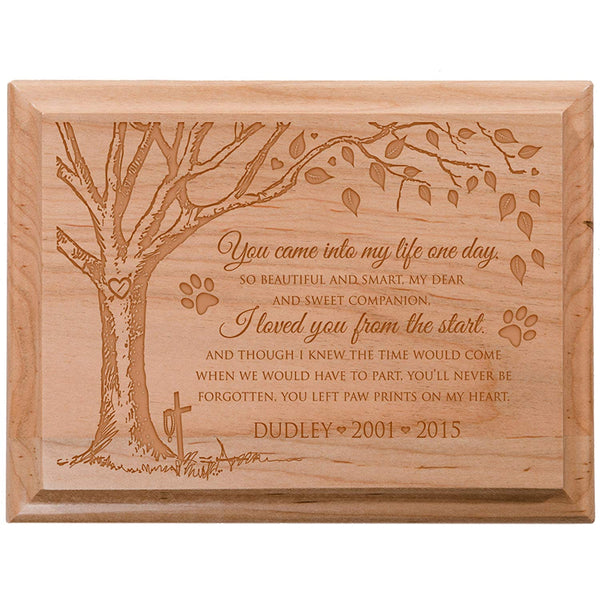Personalized Pet Memorial Wall Plaque - You Came Into My Life One Day So Beautiful and Smart