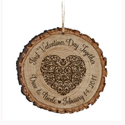 Personalized Valentine's Day Ornaments First Valentine's Day Together