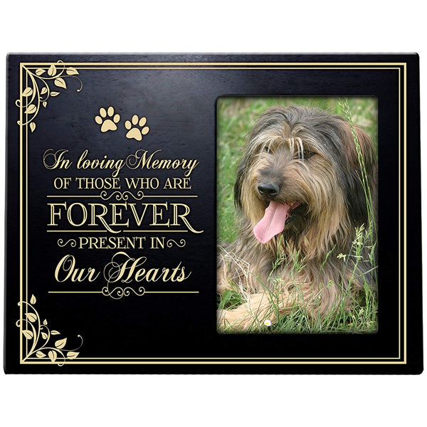 Pet Memorial Sympathy Bereavement Photo Frame In Loving Memory of Those who Are Forever Present in Our Hearts Holds 4x6 Photo