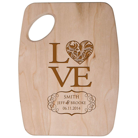Personalized Family Cheese Cutting Board - Love