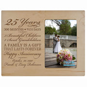 Personalized 25th Year Anniversary Photo Frame - Counting Our Blessings