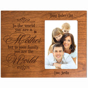 Personalized Happy Mother's Day Photo Frame - To The World Cherry