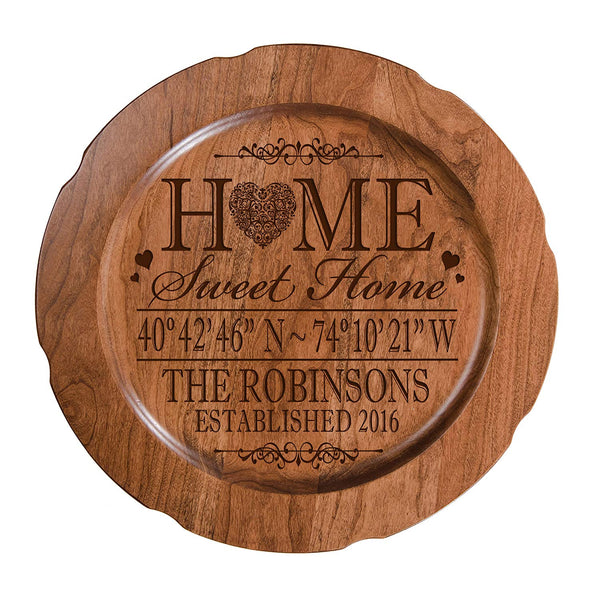 "Personalized Home Coordinates Latitude Longitude Decorative plate with Family last Name and Date Established Home Sweet Home 12"" by LifeSong Milestones"