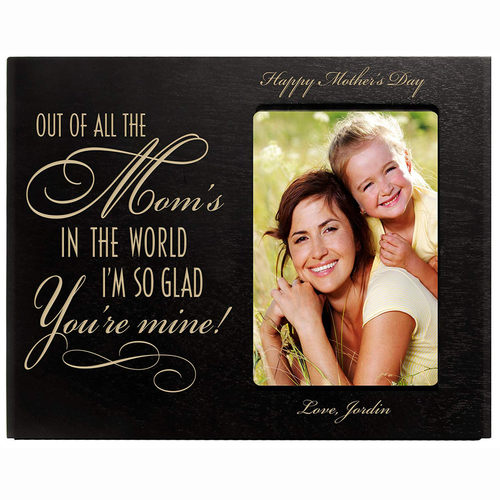 Personalized Mothers Day Picture Frame Gifts Custom Engraved Photo