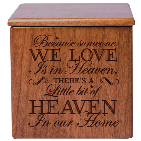 Cremation Urns for Human ashes - SMALL Funeral Keepsake box - Memorial Gift for home or Columbarium Because someone we love - Holds SMALL portion of ashes 4.5""