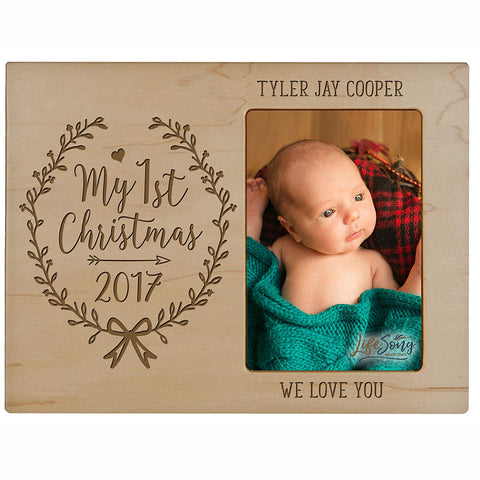 Personalized Home Christmas Arrow Design Photo Frame Holds 4x6 Photograph