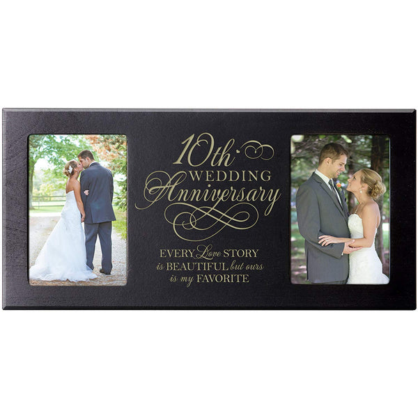 10th Wedding Anniversary Photo Frame  Every Love Story Is Beautiful but Our Is My Favorite