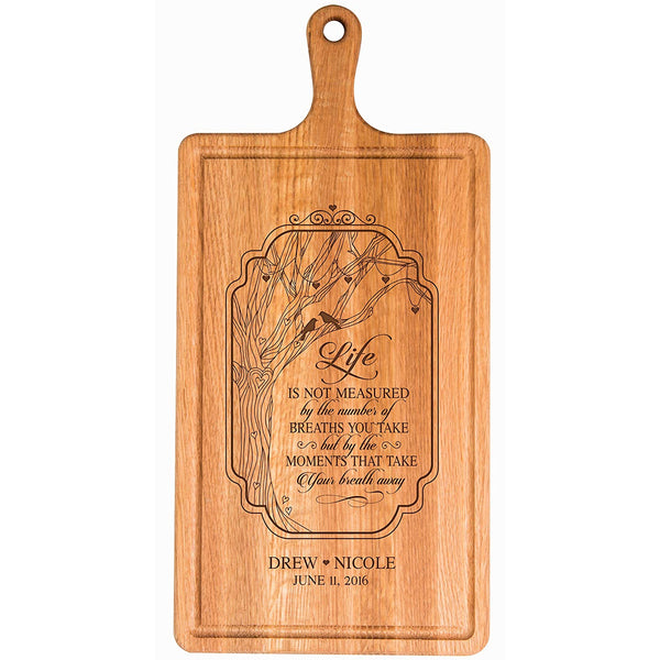 Cherry Cutting Board - Life is not measured by... For Bride and Groom