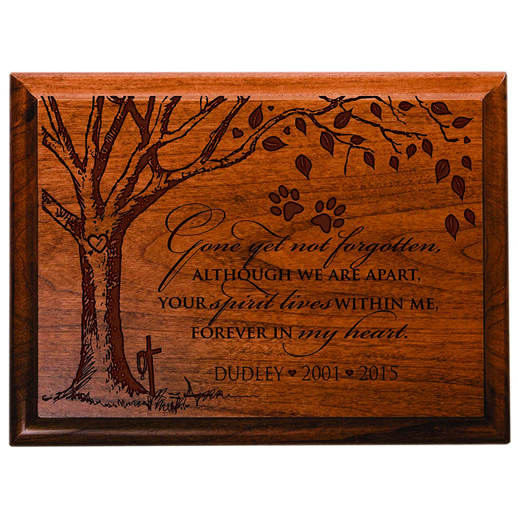 personalized pet memorial gift sympathy wall plaque gone yet not