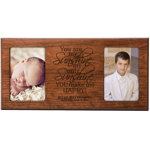 Personalized 1st Communion, Baptism Blessings Photo Frame - You are My Sunshine (Ivory)