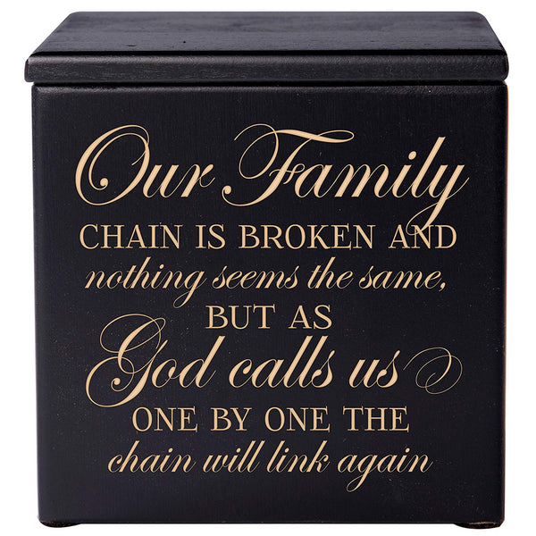 Cremation Urn - Our Family Chain Is Broken