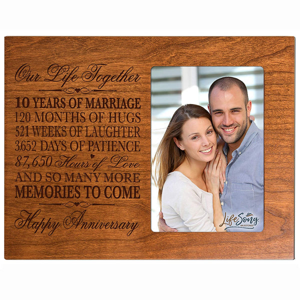Ten Year Anniversary Photo Frame