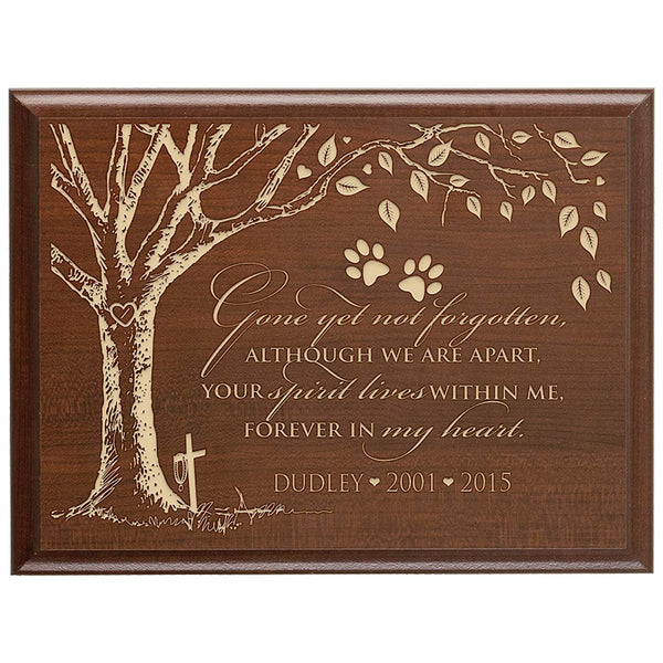 Personalized Pet Memorial Gift, Sympathy Wall Plaque