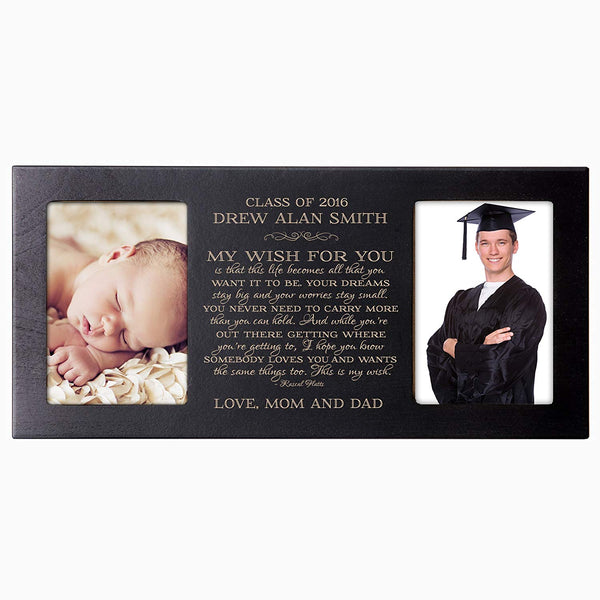 Personalized Graduation Double Photo Frame