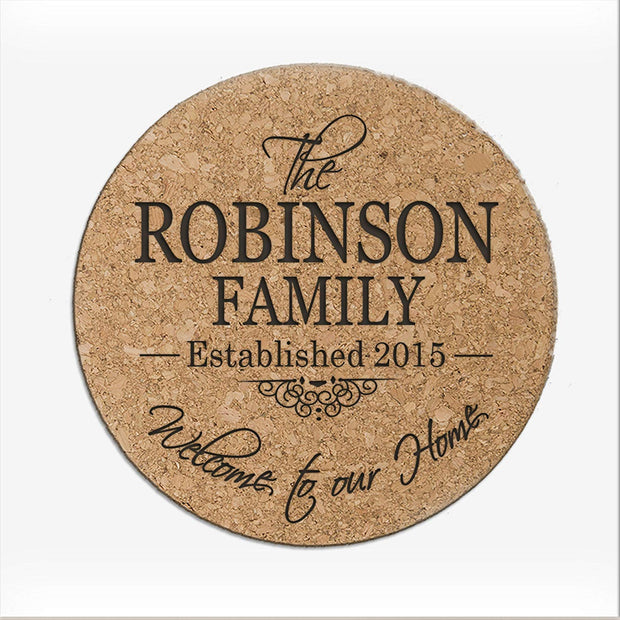 Personalized Cork Family Coaster