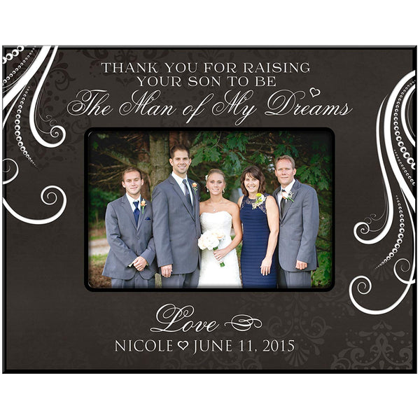 Personalized Wedding Photo Frame - Thank You for Raising Your Son