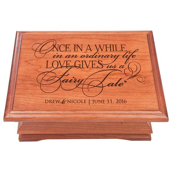 Personalized Jewelry organizer Box for Couple, Personalized Anniversary Gift Parent Wedding Keepsake Box for Her or Him, Once In A While