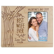 valentine's day best wife ever frame maple