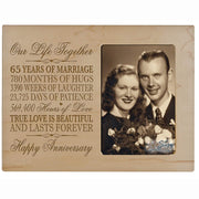 65th Anniversary Photo Frame - Our Life Together Maple