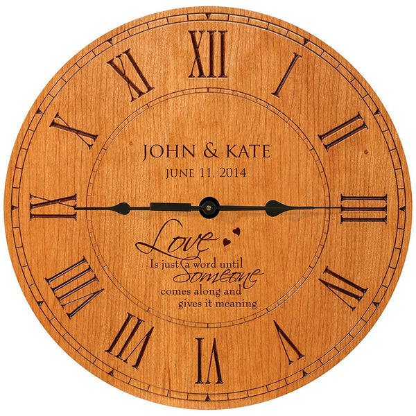 "Personalized Wedding Gifts Modern Decorative Wall Clocks Housewarming Anniversary Gifts for Couple 12""x12"" By LifeSong Milestones"